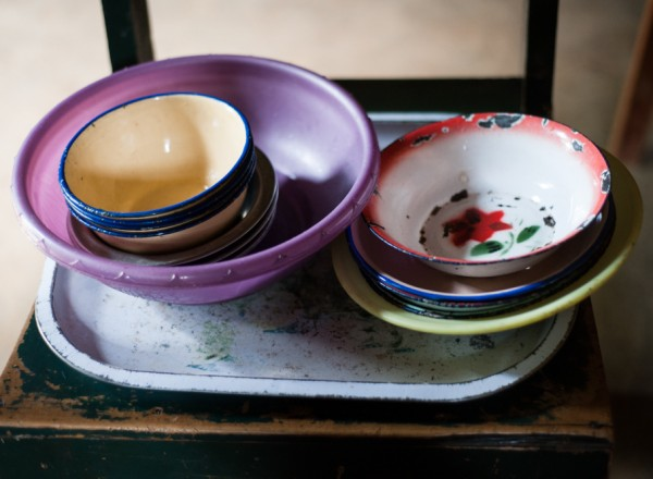 Anne's old dishes that she plans to replace this winter.  Photo: Hailey Tucker
